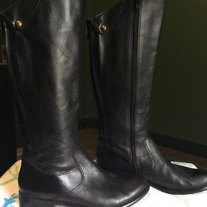 Corso como black leather boots